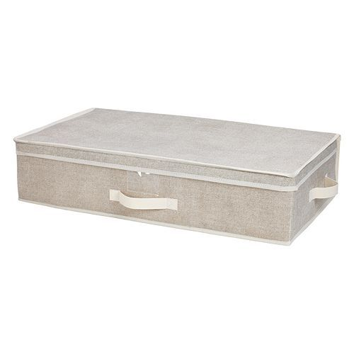 "Kennedy Home Collection Under-Bed Storage Box Kohls 6""H x 28""W x 16""D $14.99"