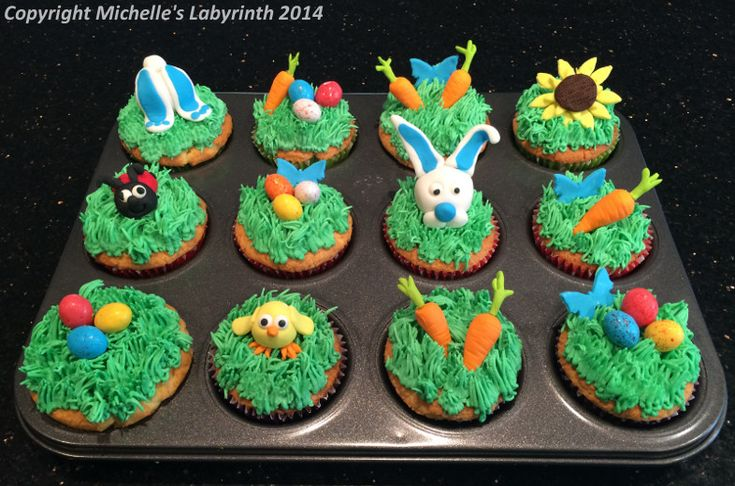 Michelle's Labyrinth Easter Cupcakes [April 2014]