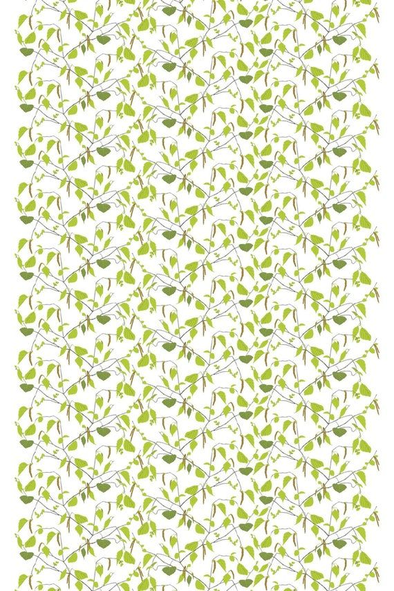 Scandinavian Fabric Curtain Fabric Swedish Fabric Floral