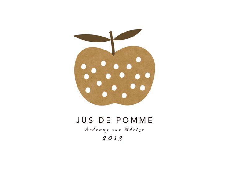 :: Apple juice Label - Mathilde Aubier ::
