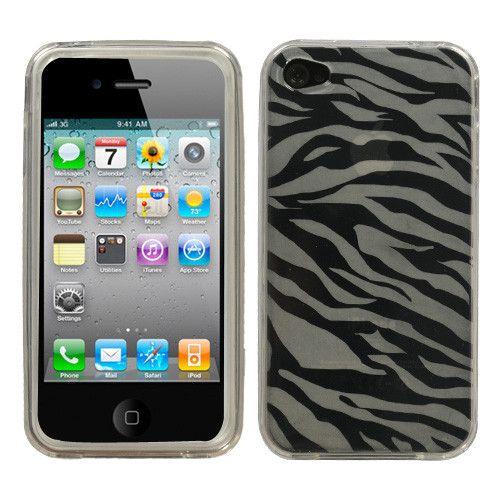 MYBAT Zebra Skin Candy Skin Cover for iPhone 4 / 4S - Clear