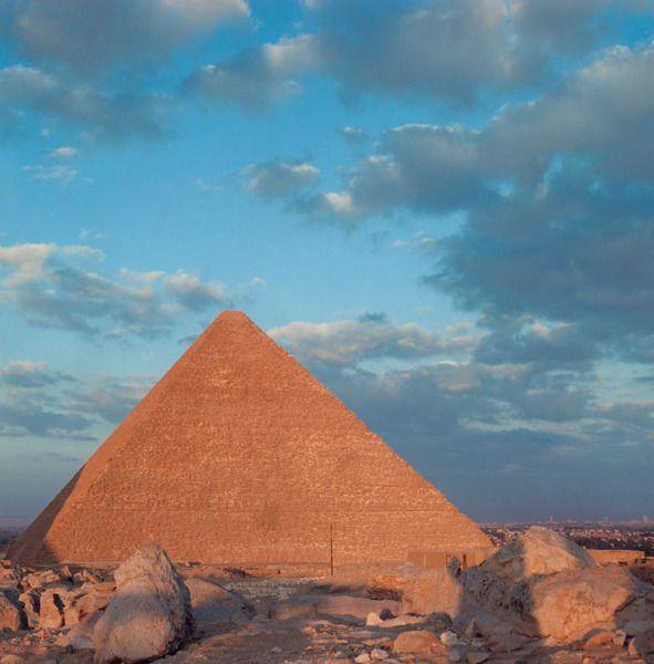 Giza Pyramids, The Great Pyramid of Khufu.