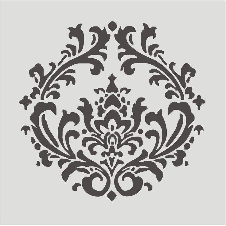 die besten 25 damast wandschablonen ideen auf pinterest damast wand wandschablonierung und. Black Bedroom Furniture Sets. Home Design Ideas