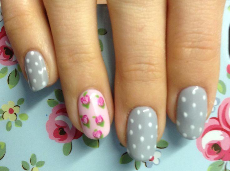 Cath Kidston style nails - love love love!!