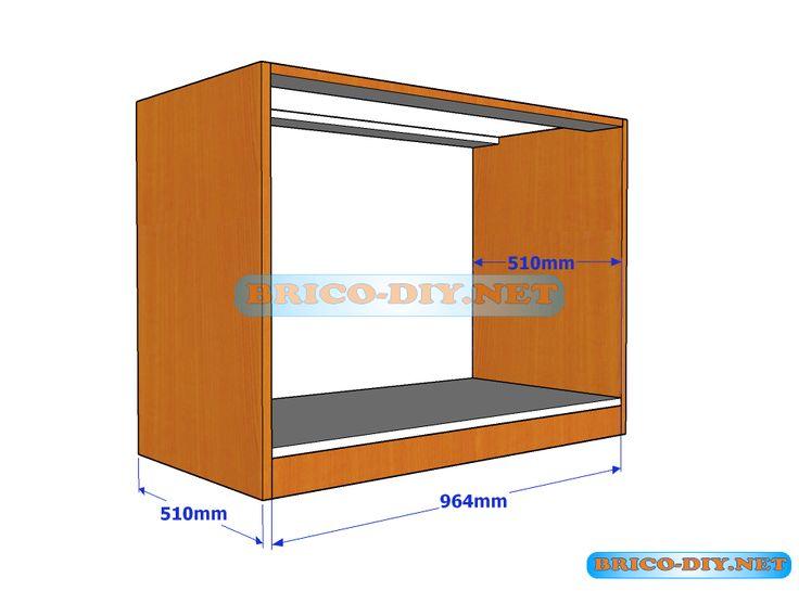 Plano y medidas de c mo hacer una comoda de melamina con for Planos y diseno de muebles