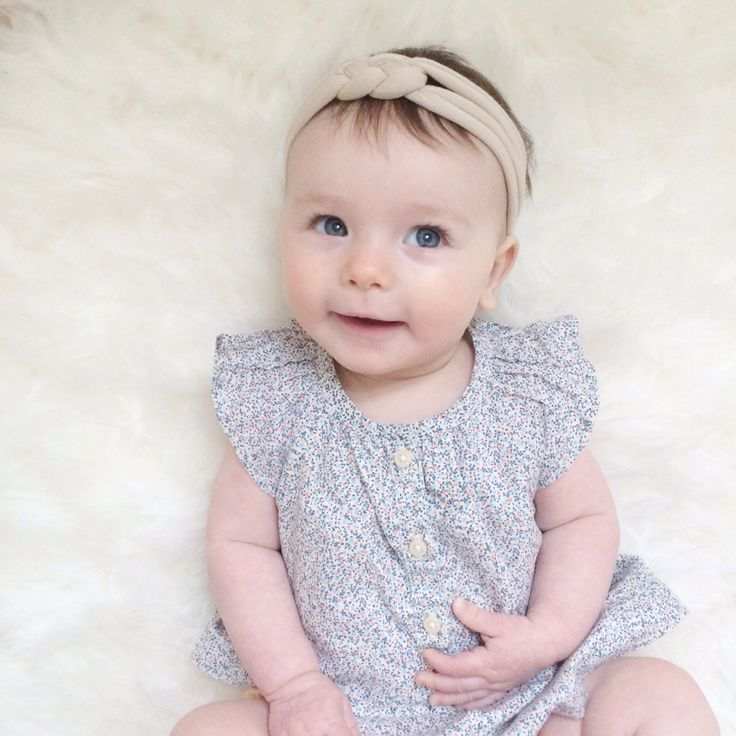 Cute baby headband, neutral knotted braided stretchy comfy baby headband Celtic sailor knot by holly blossoms on Etsy.