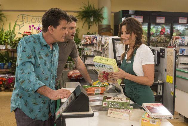 Anger Management - Publicity still of Charlie Sheen, Gina Gershon & Michael Arden