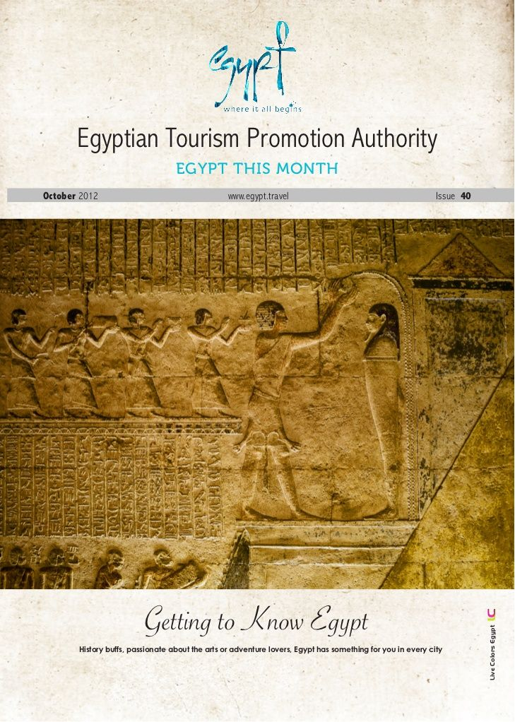 October-2012 by Egypt Tourism Board via Slideshare