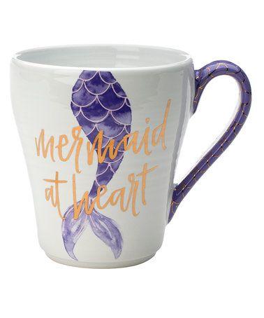 This 'Mermaid At Heart' Mug is perfect! #zulilyfinds