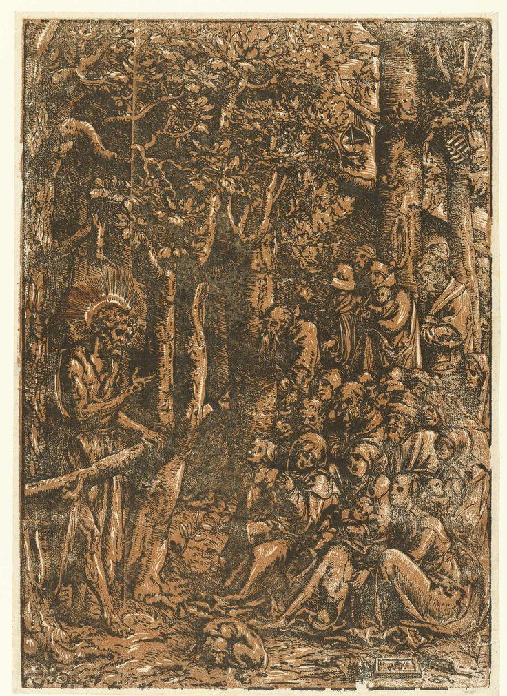 Johannes de Doper predikt tot de mensen, Lucas Cranach (I), 1516