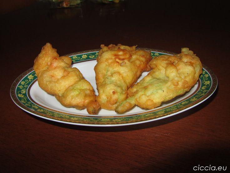 Ricette di cucina-Frittelle di fiori di zucca o Pizzelle di sciurilli