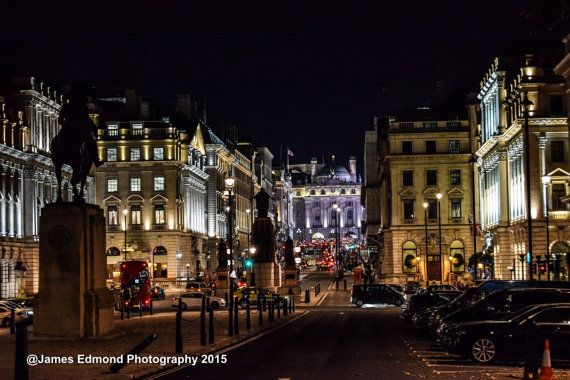 London Photography, London at Night off Pall Mall, City Photography, London Prints, London Wall Art, Fine Art Photography, London England UK