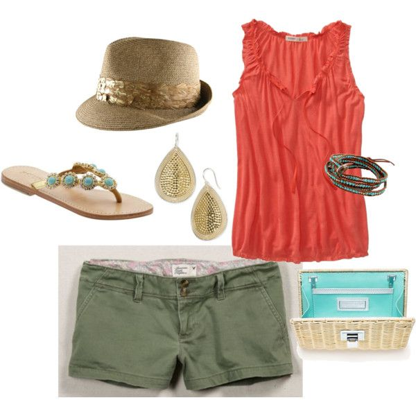 South Beach Shopping, created by #fleurdelove on #polyvore. #fashion #style Old Navy American Eagle Outfitters