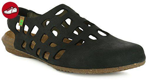 El Naturalista Damenschuhe N5060 Wakataua Modische Damen Sandale mit Korkfussbett und Fersenriemchen mit Gummiszug Schwarz (Black), EU 41 - Sandalen für frauen (*Partner-Link)