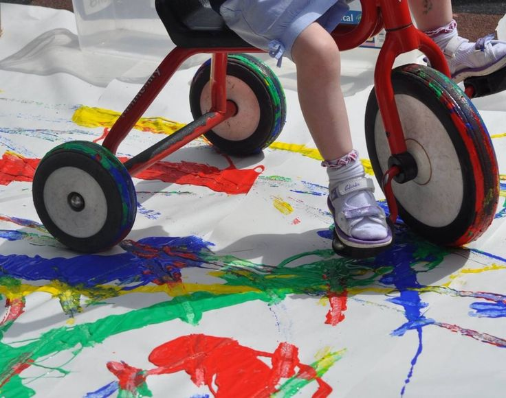 activities expressive eyfs play arts creative preschool early bike activity painting mark making years physical colour paint being nursery children
