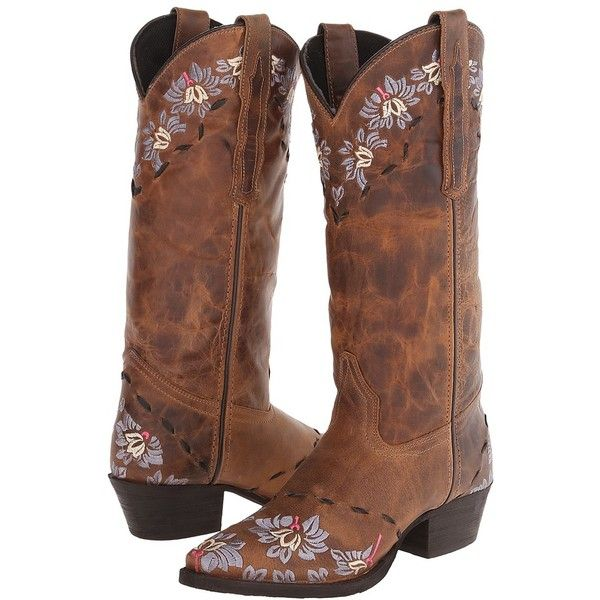 Laredo Mystique (Brown/Rust Earthquake) Women's Pull-on Boots ($116) ❤ liked on Polyvore featuring shoes, boots, mid-calf boots, mid calf boots, pull on boots, slip on boots, brown mid calf boots and brown slip on shoes