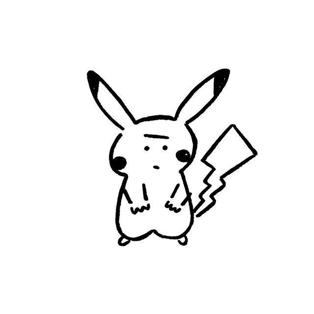 Pikachu. #pikachu #pokemon #yunagaba #kaerusensei #長場雄