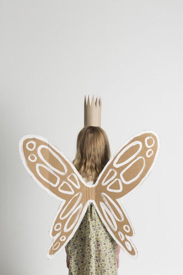 / DIY cardboard garden fairy wings and crown by Mermag.