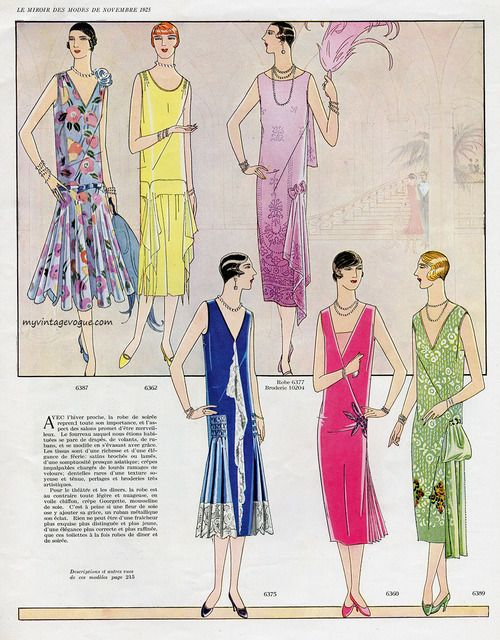 Le miroir des modes november 1925 1920s fashion for Miroir des modes