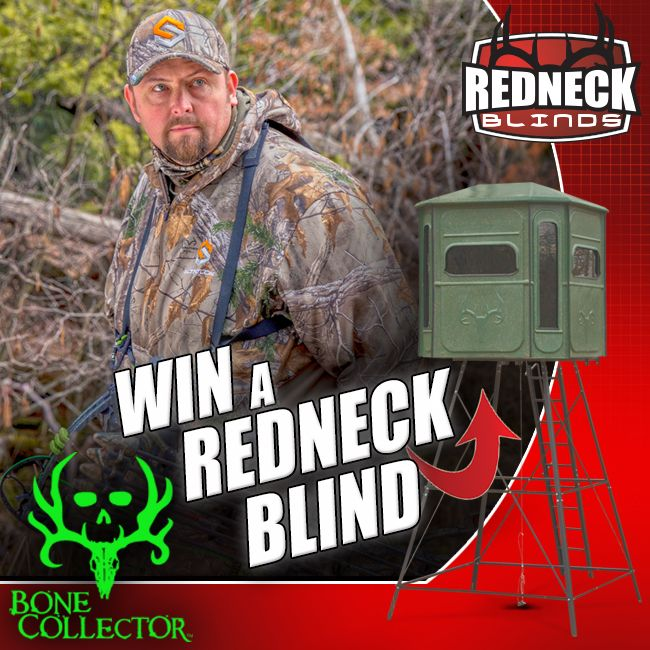 We've teamed up with our friends over at Redneck Hunting Blinds to give you a chance to WIN a Redneck of your very own! Just click the link below, fill out the registration form, and your entered. Giveaway ends Sept 30th, Good Luck!