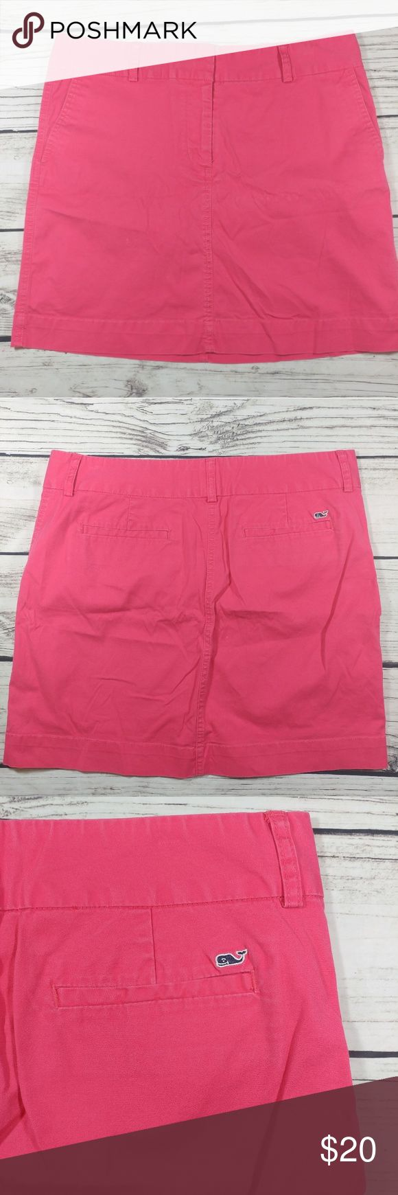 Vineyard vines mini skirt size 12 pink See pictures for measurements Coral pink Stretch skirt Gently used Vineyard Vines Skirts Mini