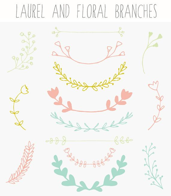 Hey, I found this really awesome Etsy listing at https://www.etsy.com/listing/182207560/laurel-branches-wreath-clip-art-and