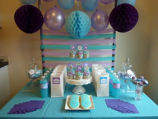 Aqua and Purple