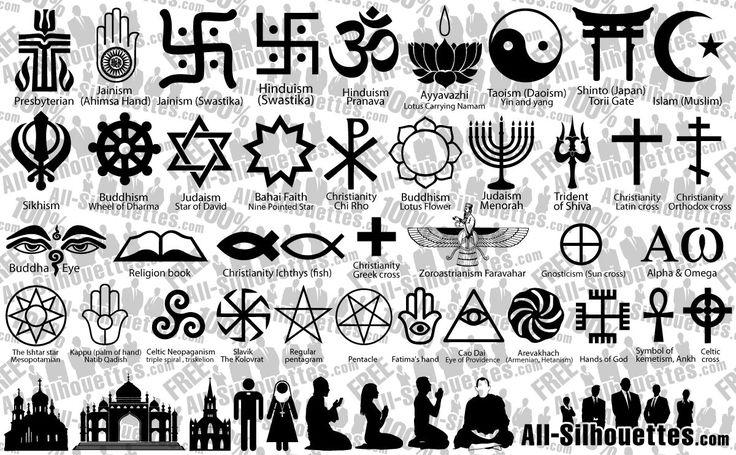 Risultati immagini per religions symbols