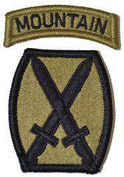 Infantry / Armor / Cavalry Unit Patch NSNs MultiCam