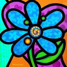 """Résultat de recherche d'images pour """"romero britto flower"""""""