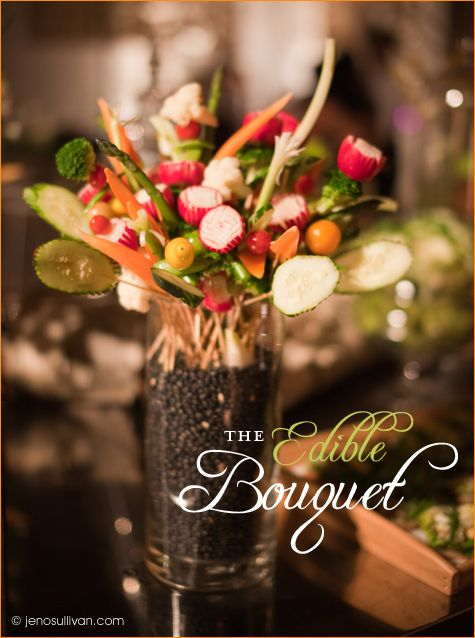So love creating edible bouquets. In the right theme & look you save money on your food cost, dress up your menu, & save on your design costs.
