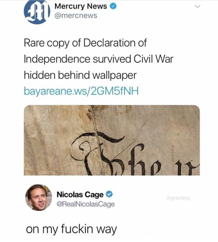Declaration of Independence Nicolas cage