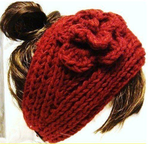 17 Best images about Diademas on Pinterest Flower headbands, Crocheted head...