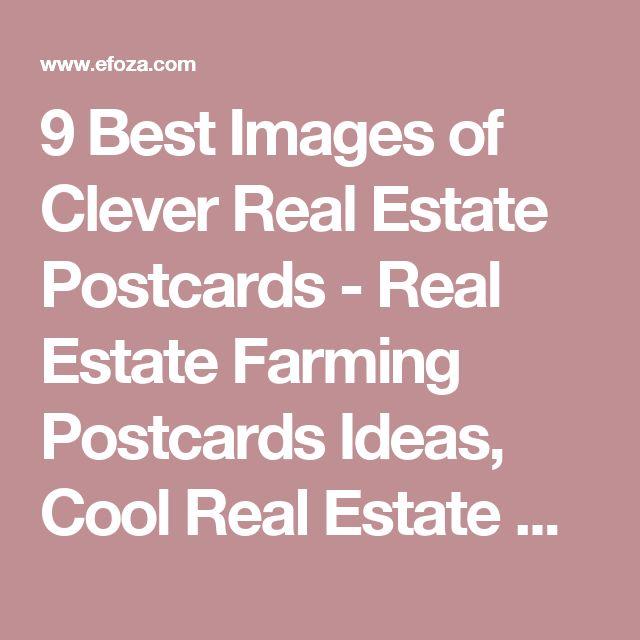 9 Best Images of Clever Real Estate Postcards - Real Estate Farming Postcards Ideas, Cool Real Estate Business Cards and Funny Real Estate Postcards / efoza.com