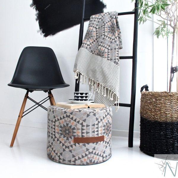 Pufa Heavenly Honeycomb szara Nord Home & Living