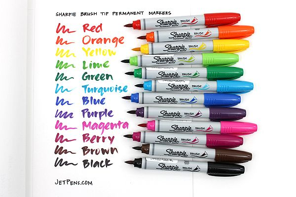 Sharpie Brush Tip Permanent Marker