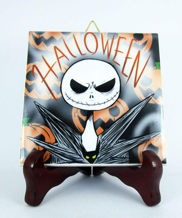 Halloween ceramic tile The Nightmare before Christmas Jack