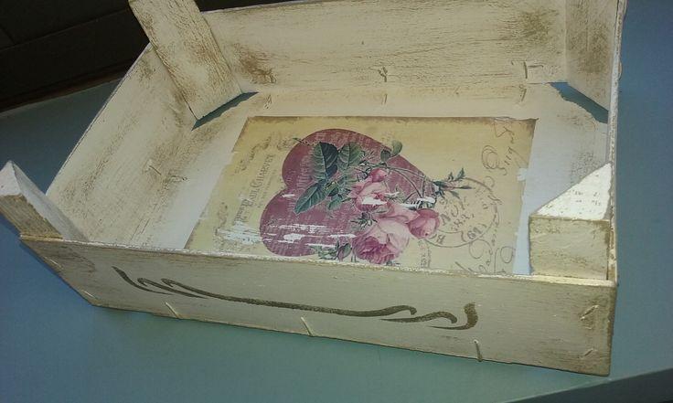 Transfer box - love - heart - flowers Caixa amb transferències - cor i flors