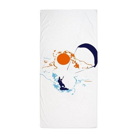 Kite Surfing Beach Towel on CafePress.com