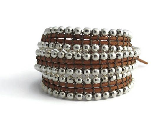 HOLIDAY GIFT SALES Triple wrap silver beaded bracelet #threewrapbracelet #wrapbracelet #beadedbracelet #silverplatedbracelet #silverplatedbeads #silverbeadsbracelet #zamakbracelet #zamakjewelry #3wrapbracelet #triplebracelet #bohochicstyle