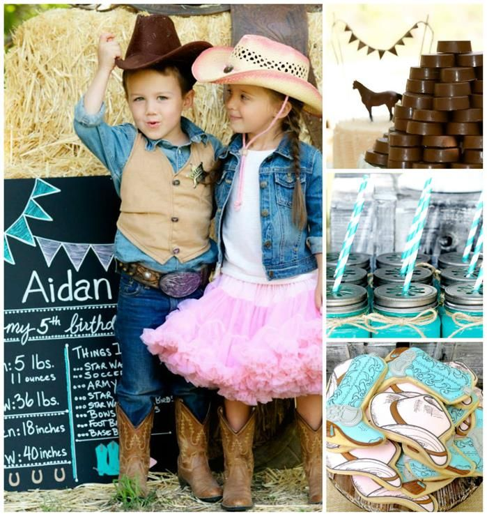 Vintage Cowboy and Cowgirl Party with Lots of REALLY CUTE IDEAS via Kara's Party Ideas