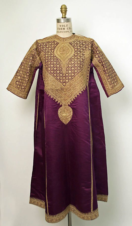 Kurta, India, Silk, metallic thread, 19th c.