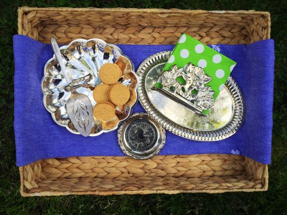 Silver Trays Serving Pieces Silver Napkin Holder by HouseofBrooke