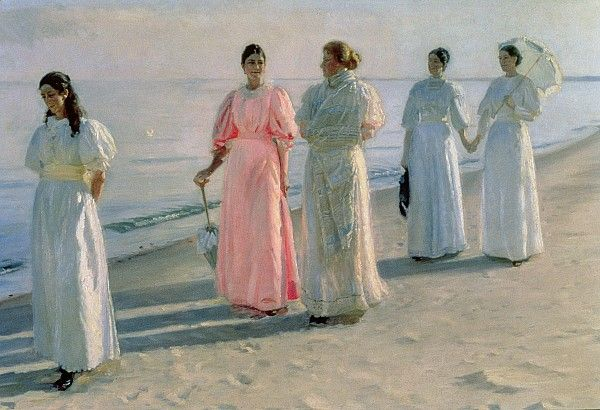 Promenade on the Beach - Michael Peter Ancher (1849-1927)