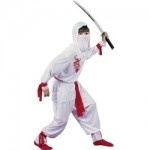 Superior White Ninja Deluxe Child Halloween Costume