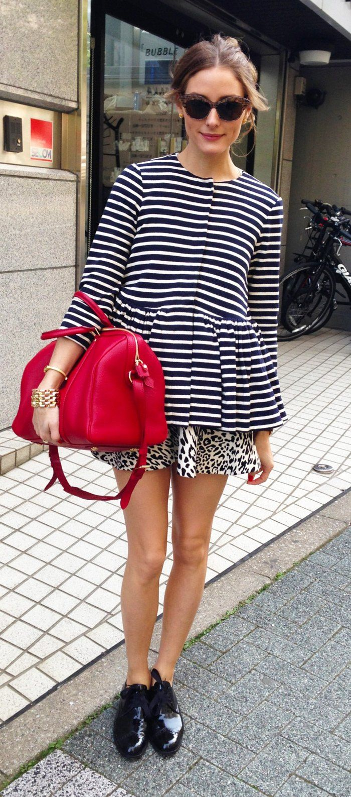 TOUCH questa immagine: Zara Printed Mini Skirt w/ Frill by Olivia Palermo