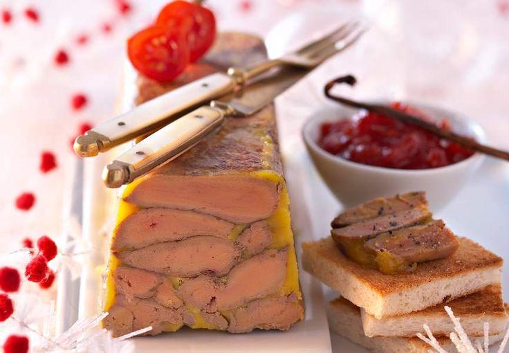 La terrine de foie gras épices et chutney de tomates