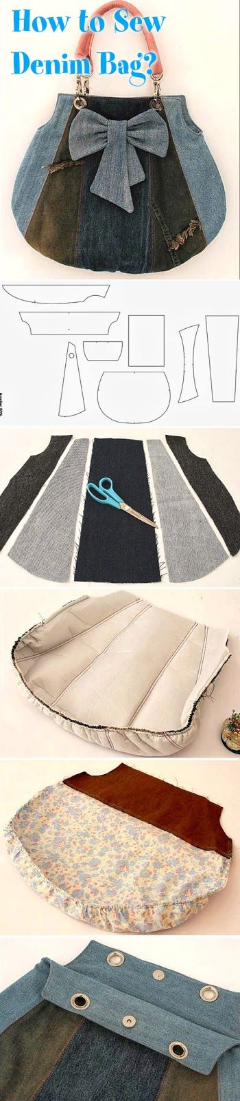 Шьем джинсовую сумку. Мастер-класс. We sew denim bag. DIY tutorial How to Sew Denim Bag? DIY tutorial www.handmadiya.co...