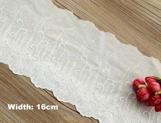 16 см старинные ткани кружева, отделка кружевом для diy, швейные аксессуары, лепесток вышитые белые кружева для одежды ( ss-2979-331 )
