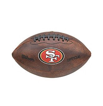 """Wilson NFL® San Francisco 49ers Color Throwback Football - 9"""" Collectible"""